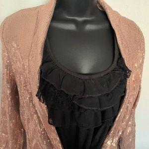 H & M rose gold sequin jacket 💫 Bling!